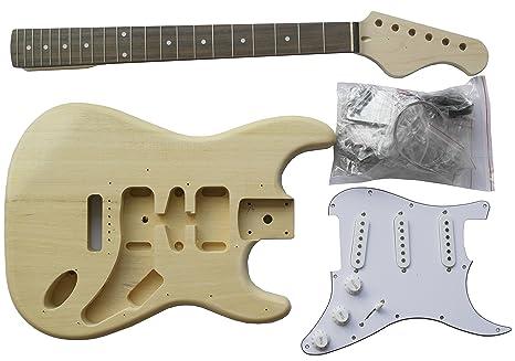 Guitarra Eléctrica Stratocaste - Paquete Hágalo Usted Mismo - Construye Tu Propia Guitarra