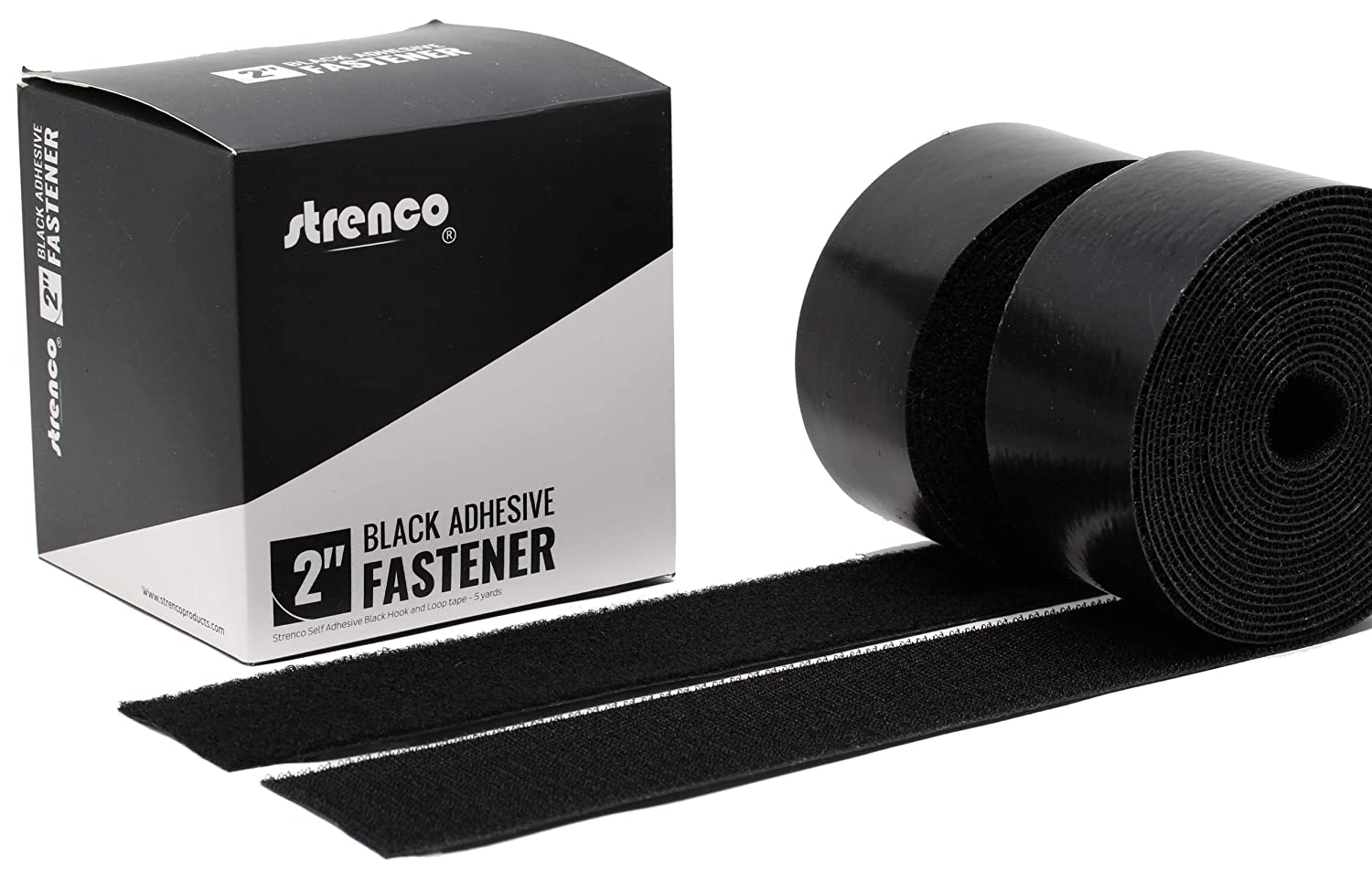 VELCRO Brand Heavy Duty Stick On ULTRA-MATE® 50mm Wide Self Adhesive Tape black