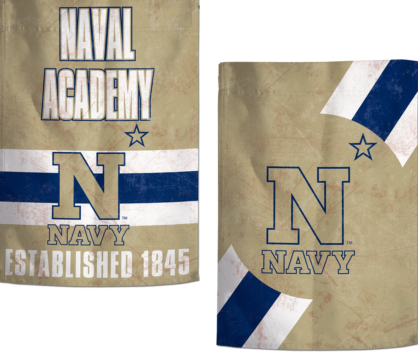 WinCraft U S Naval Academy Garden Flag Vintage Distressed Edition 12.5 x 18 inches 2 Sided