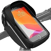 Velmia fietsstuurtas - fiets telefoonhouder ideaal voor navigatie - fietsstuurtas, fietstas mobiele telefoon…