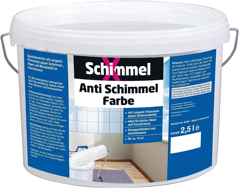 Pufas 19 SchimmelX Anti-Schimmelfarbe Innen-Farbe mit Langzeitschutz Weiß  19.19 L