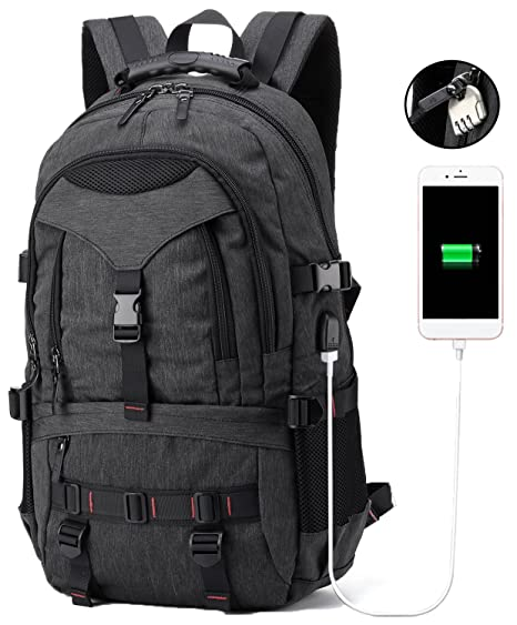 Laptop Backpack Business Anti Theft Travel Backpack with USB Charging Port  College School bag for Men 2f46d4d8a6