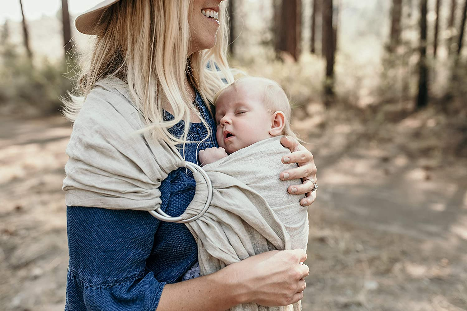 Amazon Com Hip Baby Wrap Ring Sling Baby Carrier For Newborns