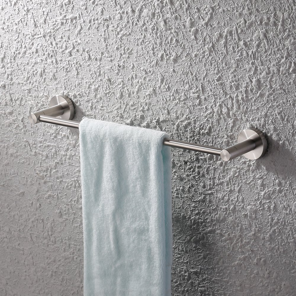 KES Single Towel Bar for Bathroom (18 Inch Brushed) Wall Mounted SUS304 Stainless Steel, A2100S45-2