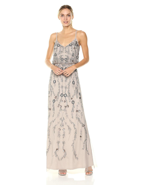 3d4964b8eee8 Black tie, bridesmaids, bridal shower, formal dress, wedding guest, prom,  gala, allover embellished, beaded blouson, spaghetti straps, back zipper,  ...