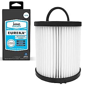 Home Revolution 4 HEPA Filters, Fits Eureka DCF-21 AirSpeed Upright Bagless & Comfort Clean Models