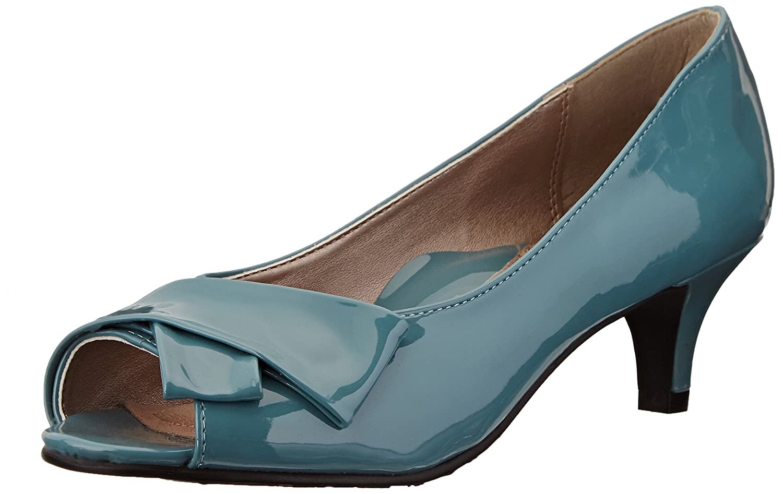 Soft Style Women's Aubrey Dress Pump B00OQV0MS4 7.5 B(M) US Soft Blue Patent Polyurethane