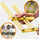 Professional Angle Template Tool - Heavy-Duty Aluminum Knobs with Reinforced Arms - Measures All Angles for Handymen, Builders, Craftsmen