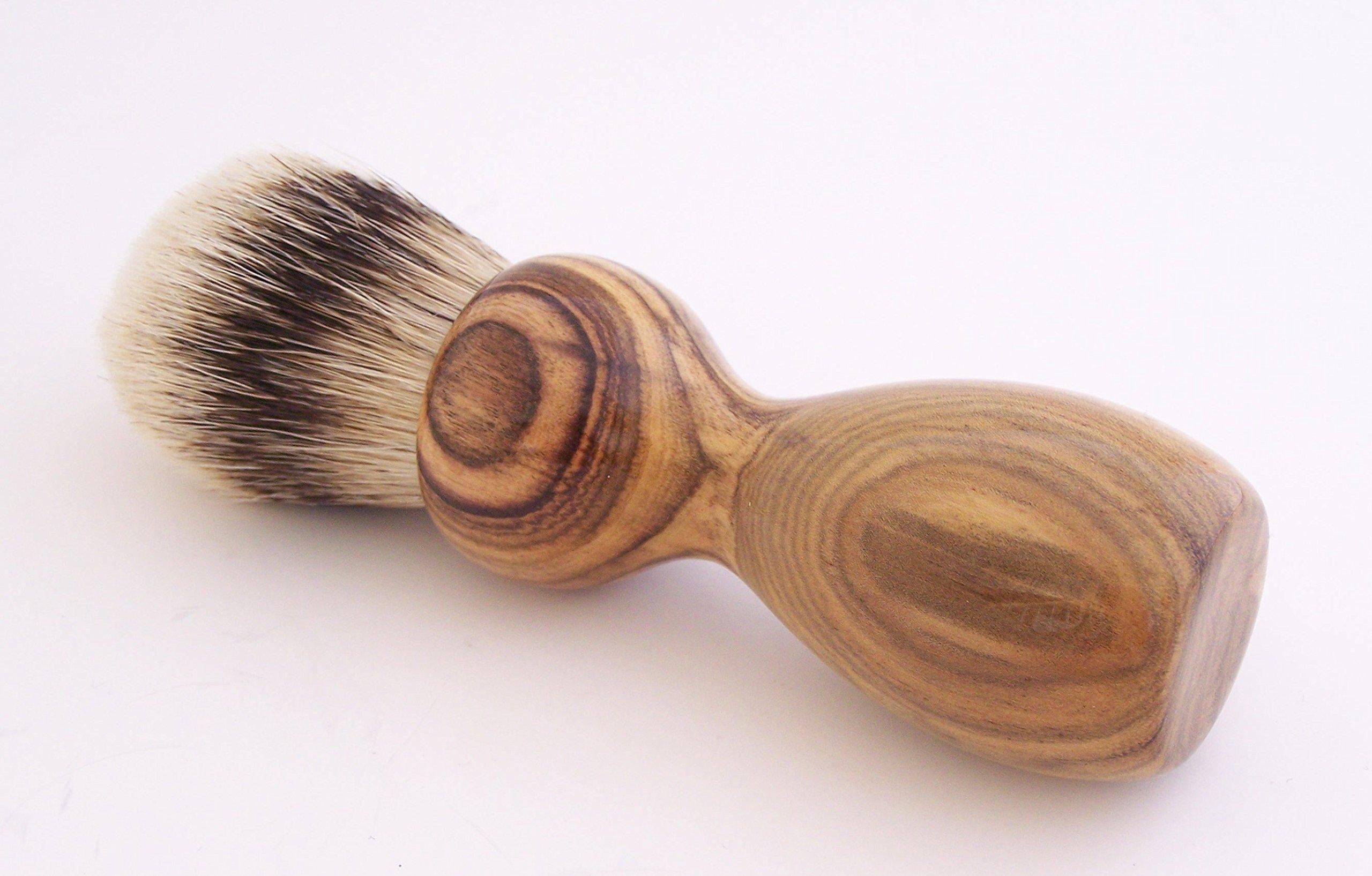 Pistachio Wood 24mm Super Silvertip Shaving Brush (P1)
