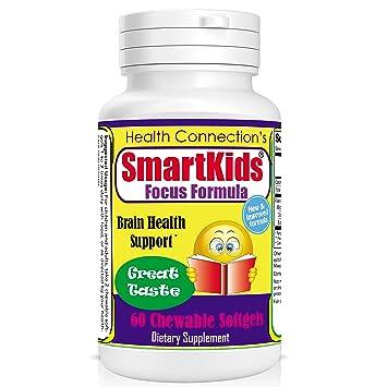 Amazon Com Brain Focus Memory Chewable Softgels Formula For Kids