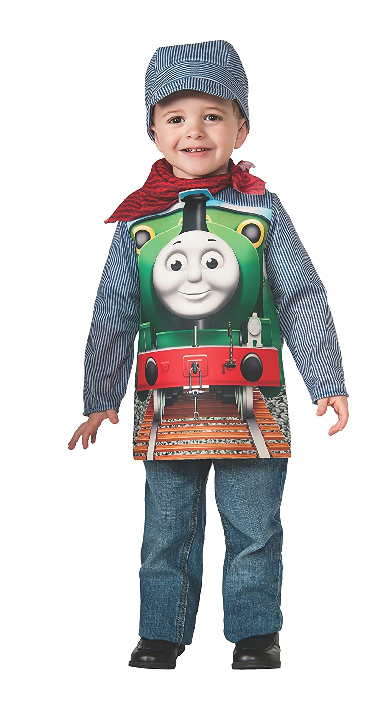 amazoncom rubies thomas and friends deluxe percy the small engine and engineer costume toddler toys games - Deluxe Halloween Costume