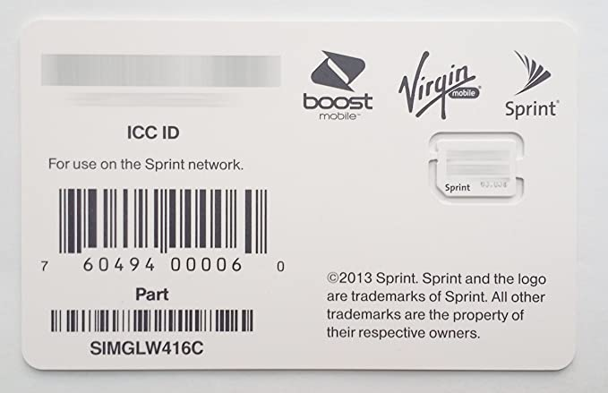 Sprint Boost Virgin Mobile iPhone 5s & 5c Nano SIM Card