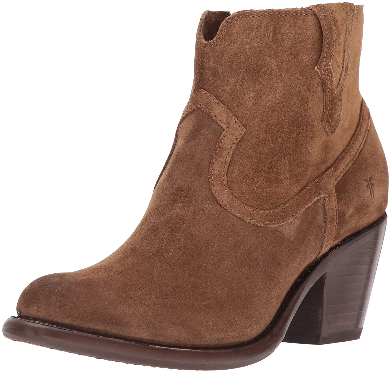 FRYE Women's Lillian Western Bootie Boot B01MU3RWZ5 6 B(M) US|Chestnut Soft Oiled Suede