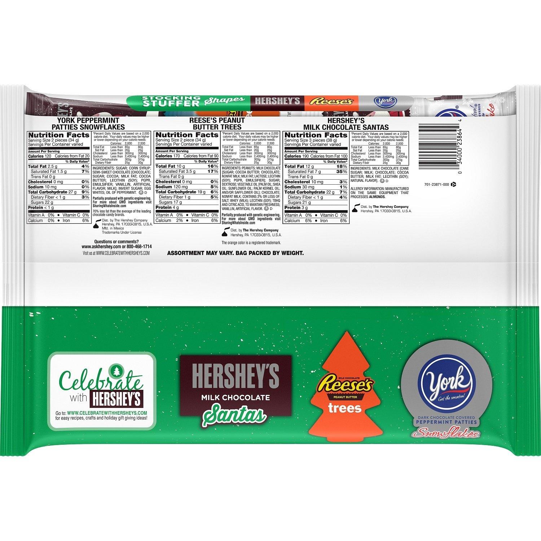 Amazon.com : Hershey Holiday Stocking Stuffer Shapes Chocolate ...