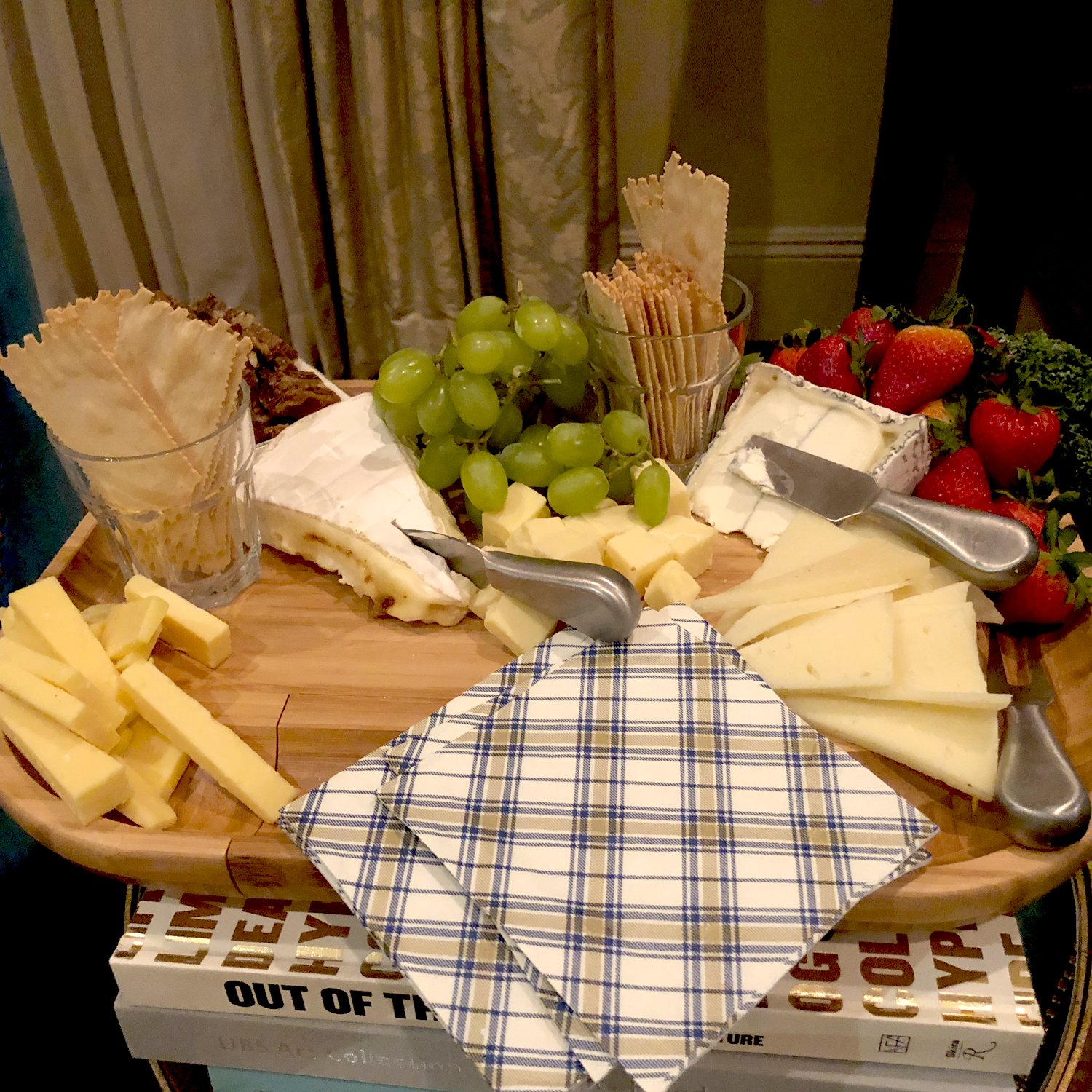 Picnic at Ascot -The''Original'' Large Bamboo Cheese Board with Cracker Groove & Integrated Drawer with 4 Piece Knife Set & Cheese Markers- Designed By Picnic at Ascot in the USA by Picnic at Ascot (Image #6)