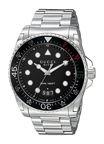 b3d7dec9c4 Gucci Dive YA136208, Orologio da polso: Amazon.it: Orologi