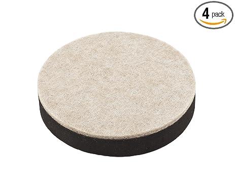 Beau STDX7 S845 530 V1715 Felt Bottom Furniture Sliders In Brown, 4 Pack