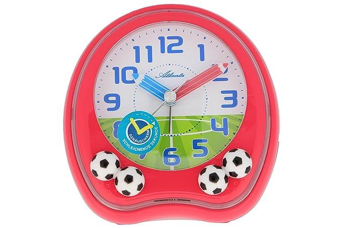 Réveil Pour Enfant Football Analogique Football Rouge Atlanta 1719