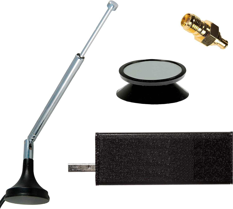 NESDR Mini 2+ Al: 0.5PPM TCXO RTL-SDR, Receptor ADS-B y DVB-T del USB con el Recinto y la Antena. Sintonizador RTL2832U y R820T2. Software Definido ...