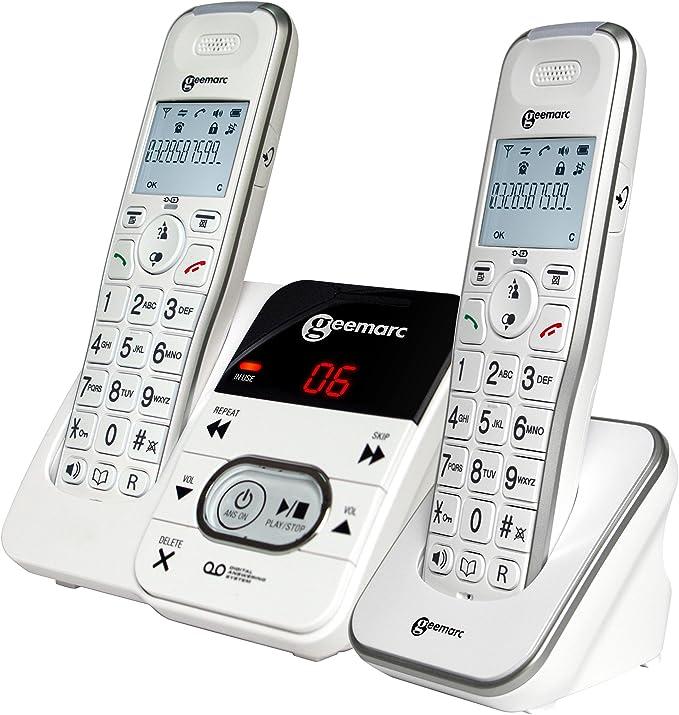Geemarc AMPLIDECT 295 amplificada teléfonos Duo inalámbrico con contestador automático: Amazon.es: Electrónica