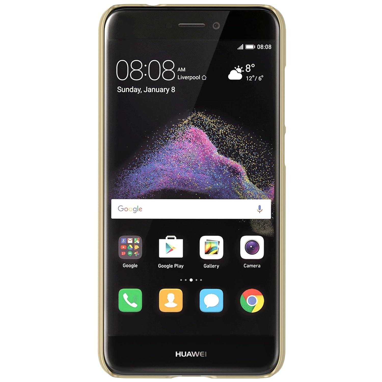 IVSO Funda Huawei P8 Lite Slim Concha Dura Funda Protectora de Carcasa Funda para Huawei P8 Lite 2017 Smartphone (Oro)