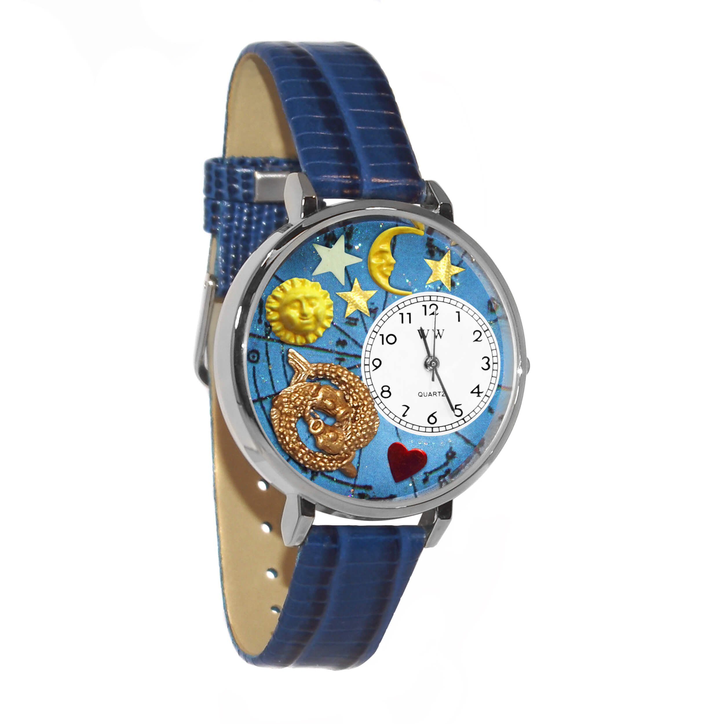 Whimsical Watches Unisex U1810009 Pisces Royal Blue Leather Watch