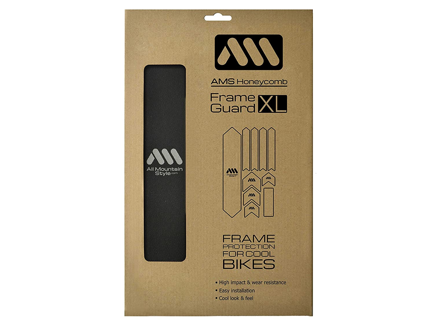 Amazon.com: All Mountain Style Honeycomb High Impact Frame Guard XL: Sports & Outdoors