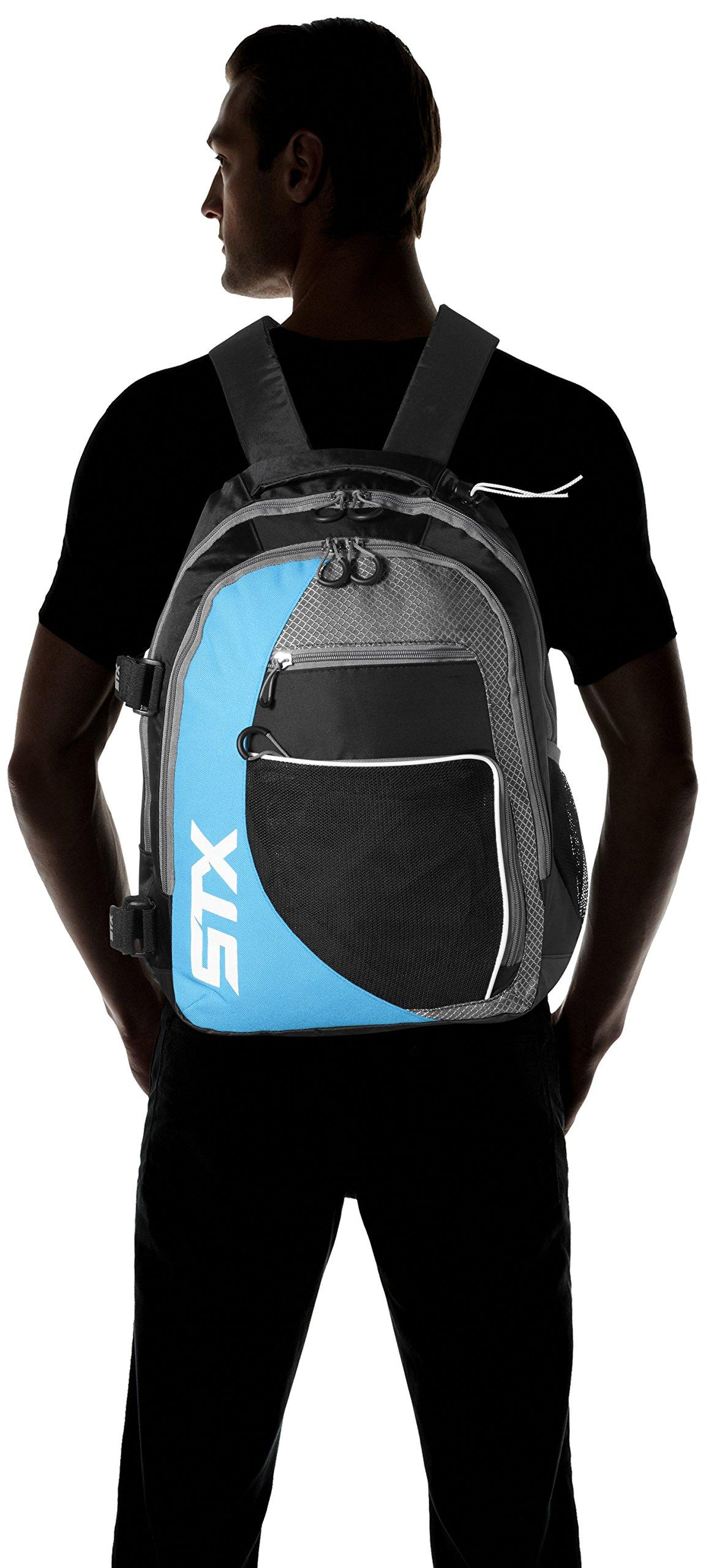 STX Lacrosse Sidewinder Lacrosse Backpack, Black/Columbia by STX (Image #4)