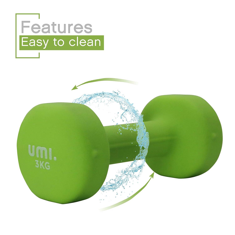Essentials Mancuernas de Neopreno - Mancuernas con Revestimiento de Neopreno 2 x 3 kg: Amazon.es: Deportes y aire libre