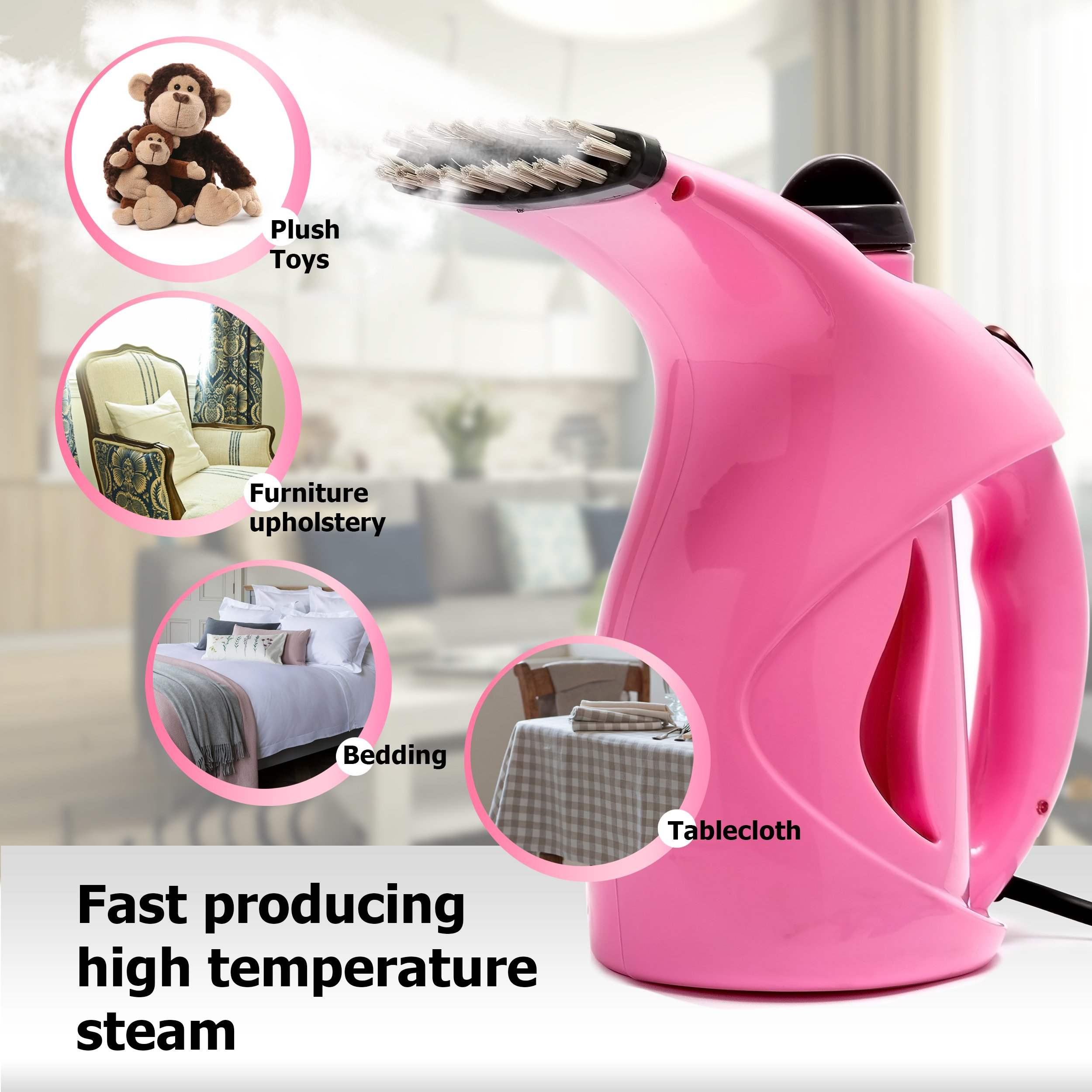 Business100 Portable Steamer, 200ML Portable Garment Steamer, Steamer for Clothes, Heat-up Premium Fabric Steam Cleaner, Safe, Lightweight & Perfect Clothing Steamer for Travel Home by Business100 (Image #7)