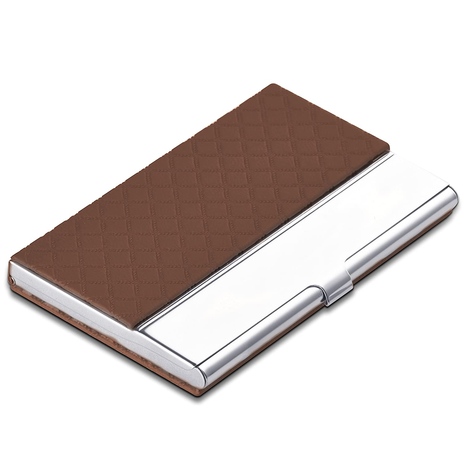 6 Colors Personalized Stainless Steel Credit Business Card Case Holder Engraved with Custom Text Yellow