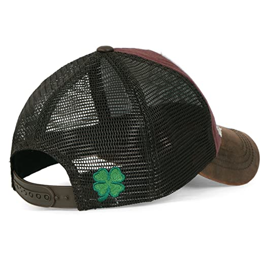 ililily Four Leaf Clover Patch Faux Leather Brim Trucker Hat Baseball Cap, Brown: Amazon.es: Ropa y accesorios