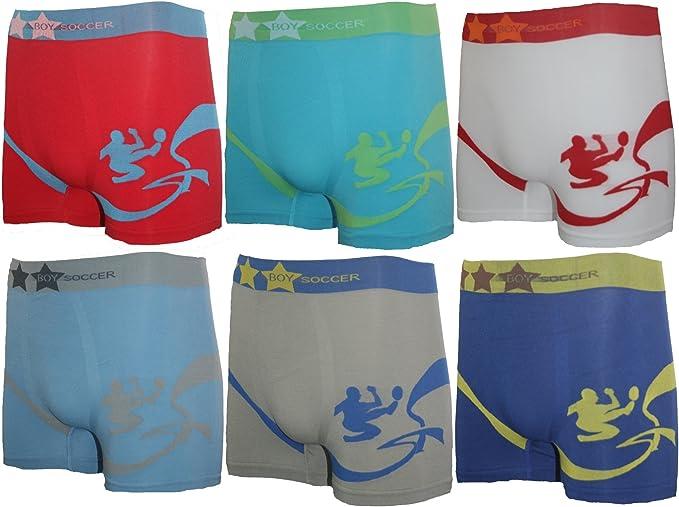6 Pack Niño Niños Boxer Pantalones Cortos Top calidad Varios Modelos. Microfibra b8383pinl Pantalones Cortos Pants Seamless Fußball-2 12 años : Amazon.es: Ropa y accesorios