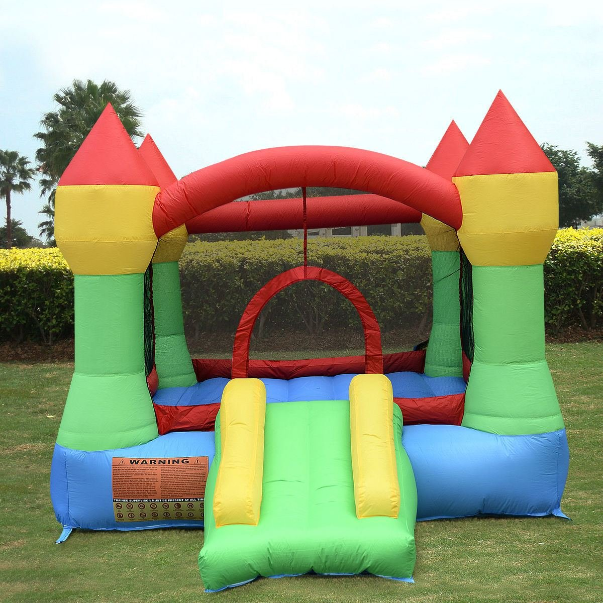 amazon com inflatable mighty bounce house castle jumper moonwalk
