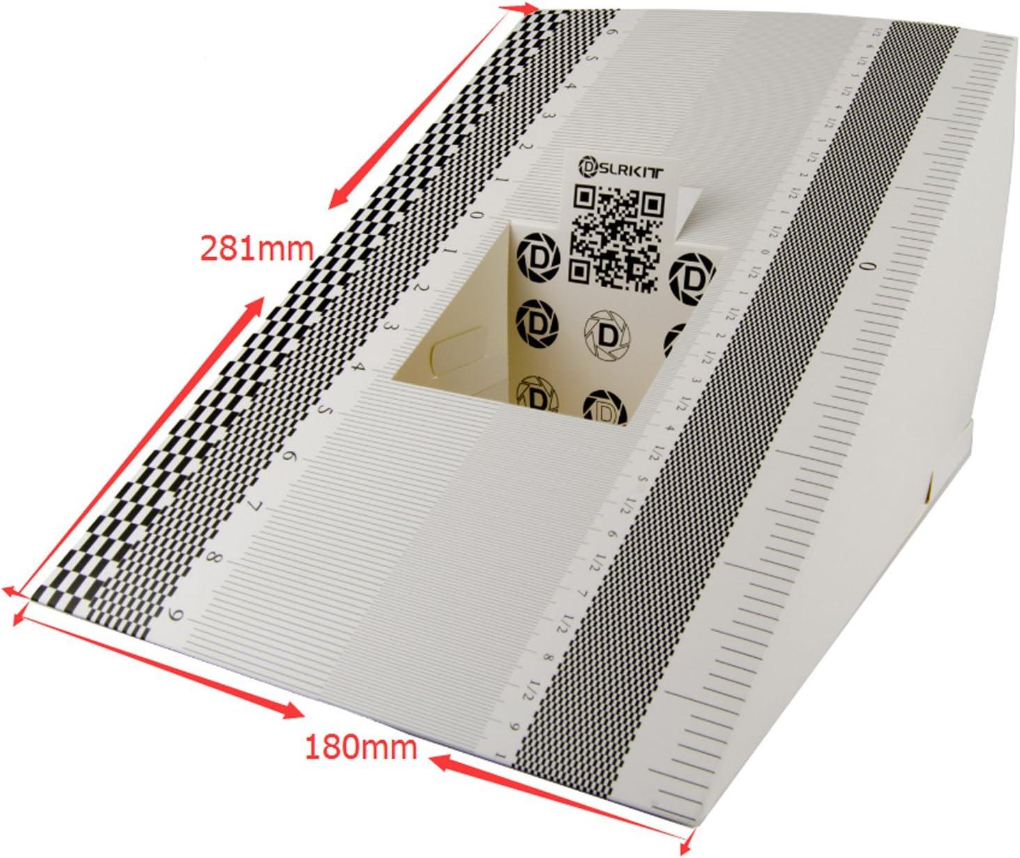 DSLRKIT – 28 x 18 cm lente Focus calibración herramienta alineación regla plegable Tarjeta (Pack de 2): Amazon.es: Electrónica
