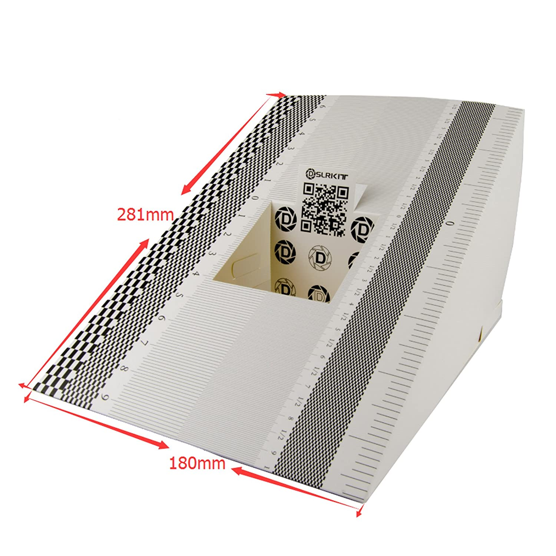 DSLRKIT 28X18cm Lens Focus Calibration Tool Alignment Ruler Folding Card (Pack of 2) LFCT2-L