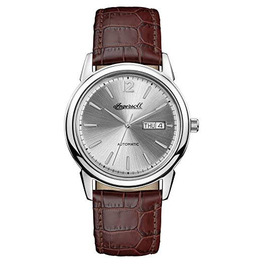 Ingersoll Men s The New Haven Automatic Watch with Silver Dial and Brown  Leather Strap I00501  Ingersoll  Amazon.co.uk  Watches 2b1db256c89