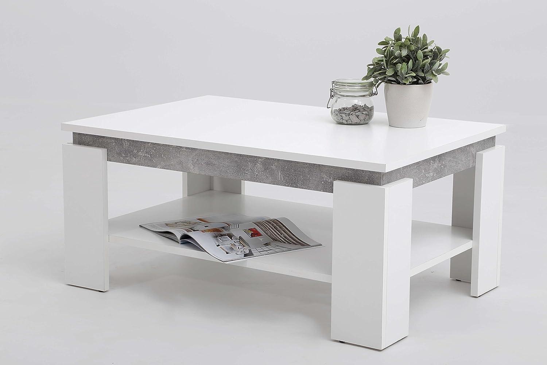 AVANTI TRENDSTORE - Tommi - Tavolino da soggiorno con 1 ripiano, disponibile in 2 diversi colori, LAP ca. 90x41x60 cm (Bianco)