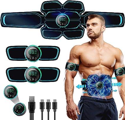 Stimulateur Musculaire /équipement Rechargeable,Les Jambes et Les Bras pour Hommes et Femmes Ceinture Abdominale Electrostimulation,electrostimulateur Musculaire Breett