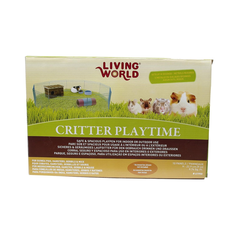 Living World 61950 Freilaufgehege für Kleintiere, 10-teilig