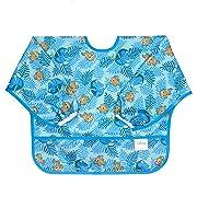 Bumkins Baby Toddler Bib, Disney Waterproof Sleeved Bib, Finding Dory (6-24 Months)