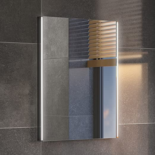 450 X 600 Mm Modern Illuminated Led Bathroom Mirror Light Sensor Demister Ml3002 By Ibathuk Ibathuk Amazon Fr Cuisine Maison
