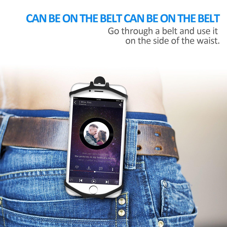ARMRA Universal Silicona Caso con Cuello Correa y Cuerda Identificaci/ón Tarjeta Soporte Billetera para iPhone 7 6 Plus 5 SE Samsung Gaxaly S8 S7 S6 Edge J5 J3 2 en 1 Tel/éfono Funda Acollador Carcasa
