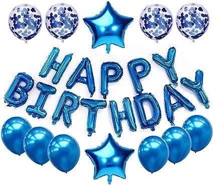 Amazon.com: Juego de decoraciones de globos para cumpleaños ...