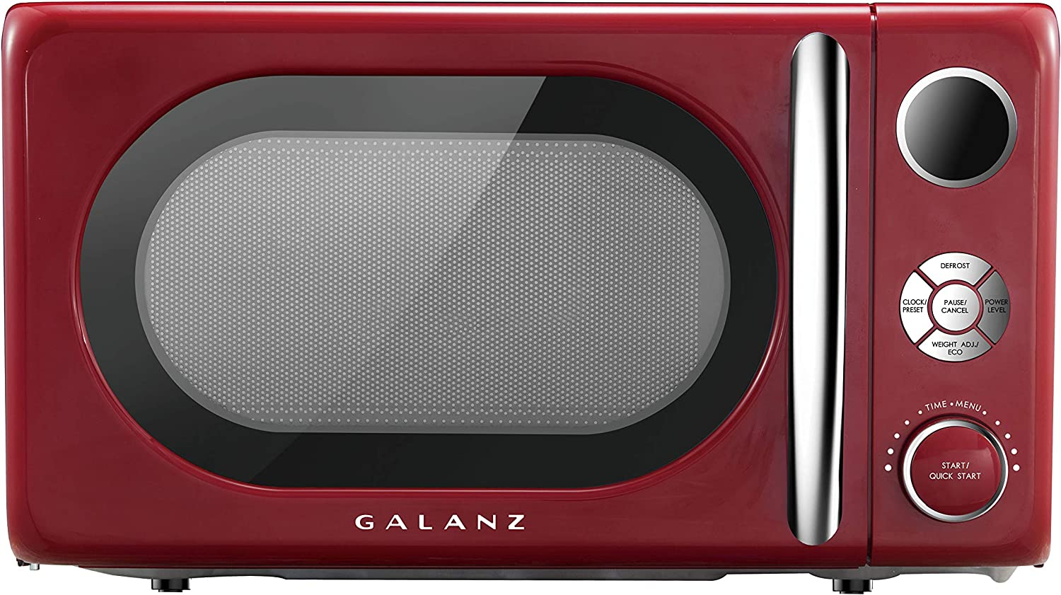 Galanz GLCMKA07RDR-07 Retro 0.7 cu. Ft. 700-Watt Countertop Microwave, Hot Rod Red