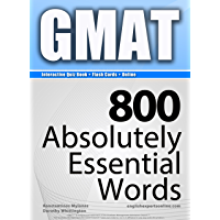 GMAT Interactive Quiz Book + Online + Flash Cards/800 Absolutely Essential Words. A powerful method to learn the vocabulary you need. (English Edition)