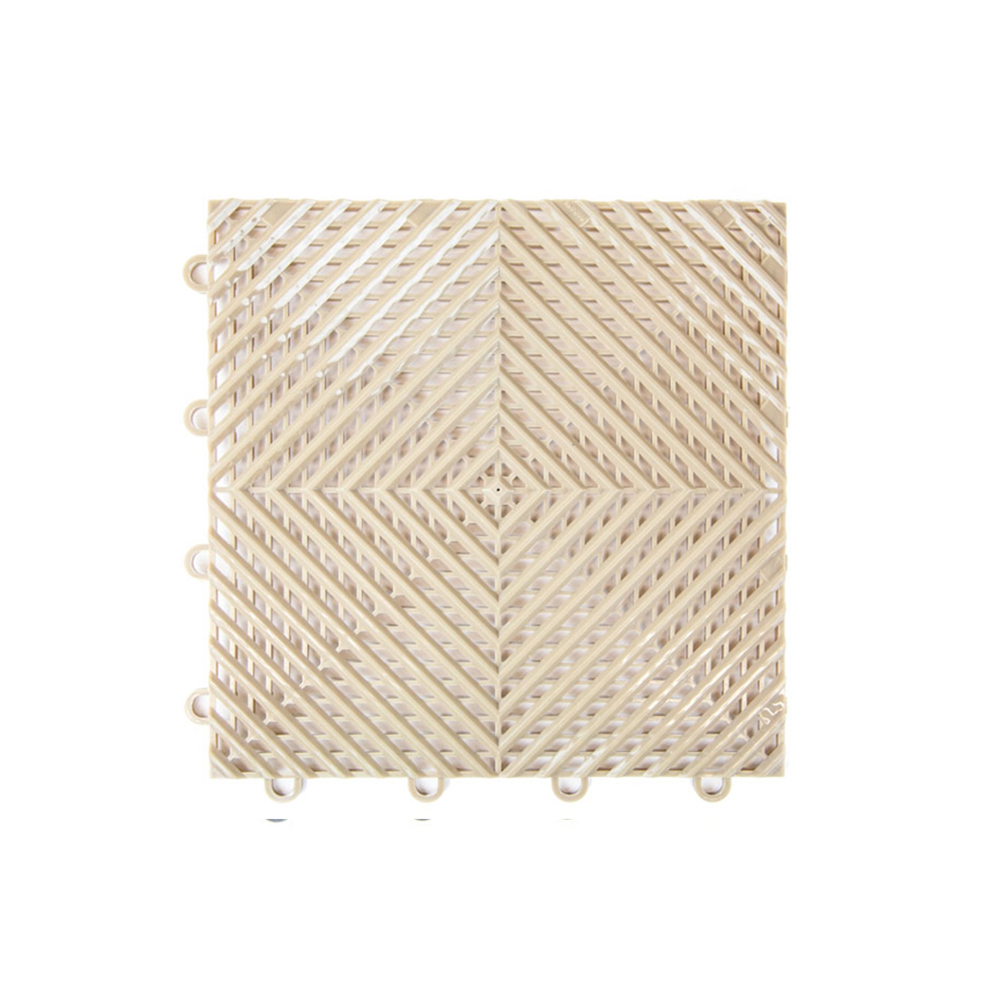 IncStores Vented Nitro Garage Tiles 12''x12'' Interlocking Garage Flooring (Sahara Sand - 52-12''x12'' Tiles)