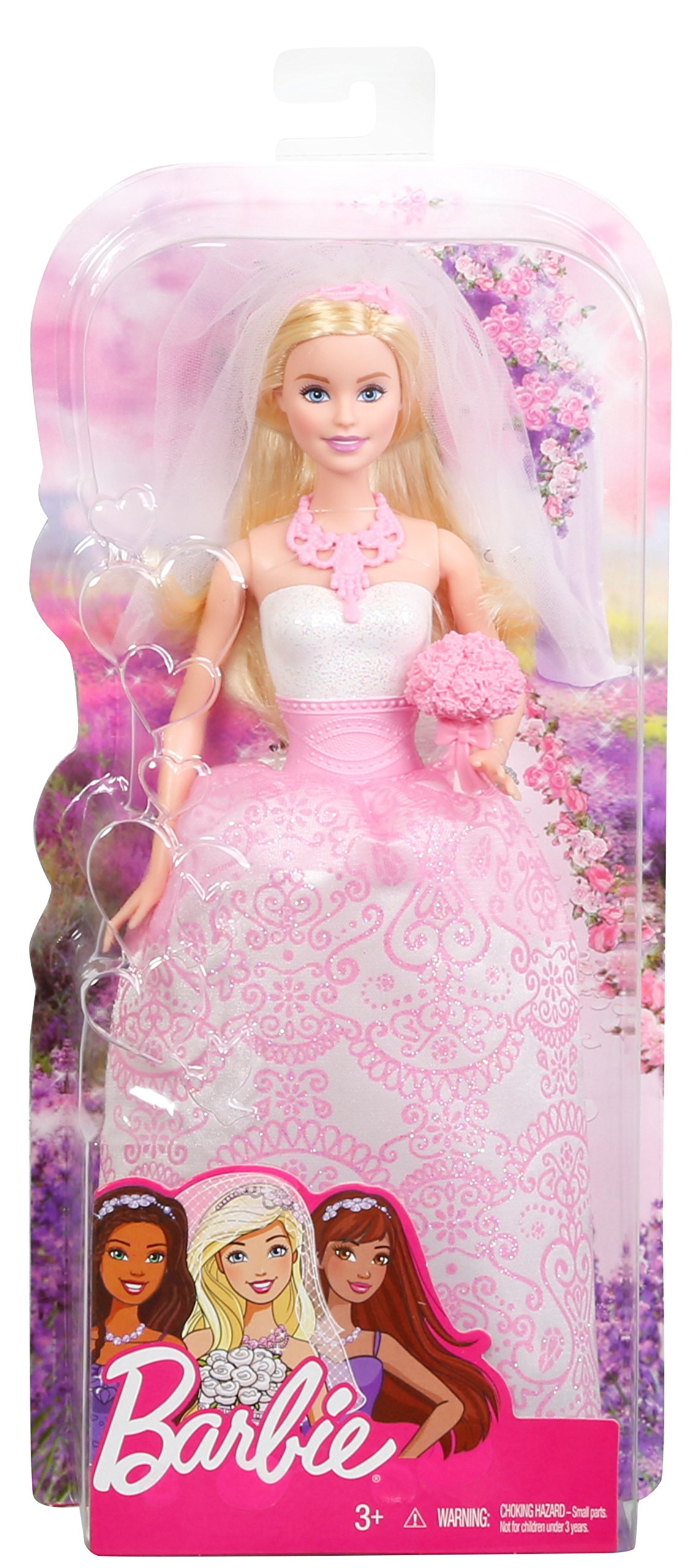 Barbie Fairytale Bride Doll Pink New