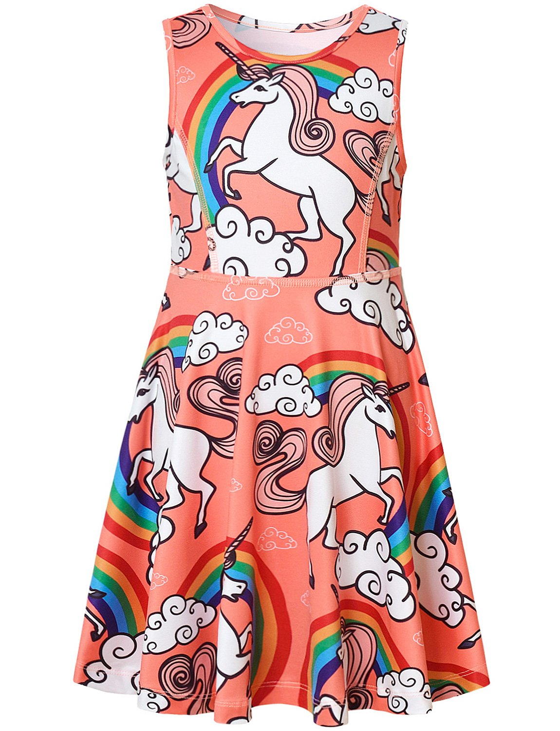 Pink Unicorn Dress for Girls Kids Happy Birthday Gifts