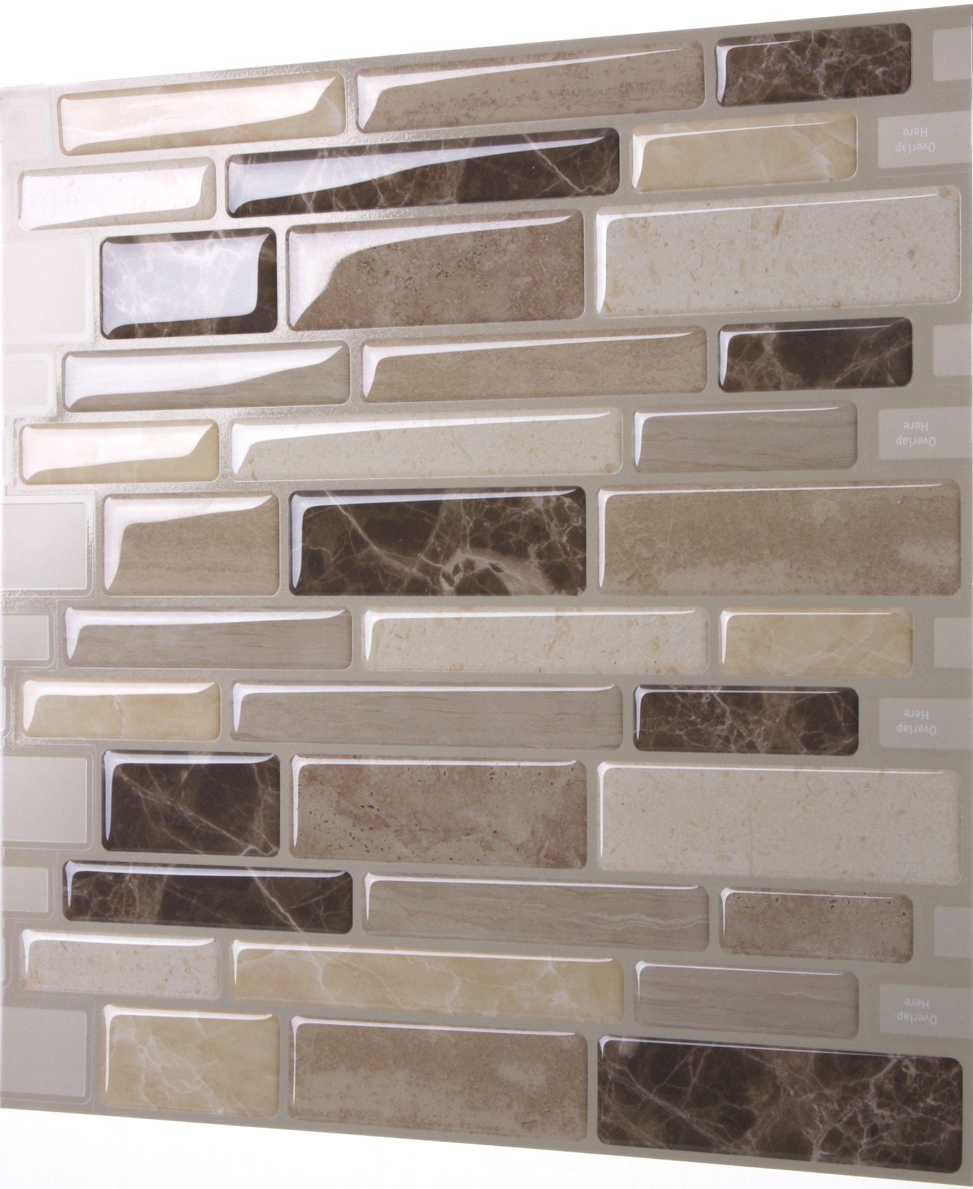 tic tac tiles anti mold peel and stick wall tile in polito bella 10 ebay. Black Bedroom Furniture Sets. Home Design Ideas